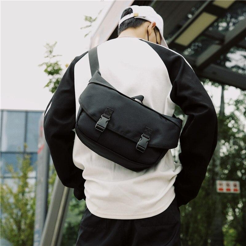 Mannen Canvas Crossbody Tassen Enkele Riem Mannelijke Schoudertassen Toevallige Reizen Handtassen Stevige Rits Schooltassen voor Tieners