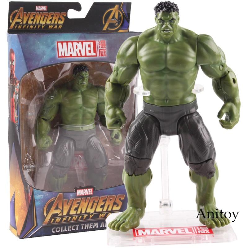 Marvel Avengers Infinity War Hulk Action Figure PVC Hulk Figurine Collectible Model Toy 17cm стоимость