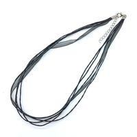 Wholesale 100 Pcs Bag Silk Ribbon Wire Cord Necklace Wax Cotton Thread Jewelry 45cm 18 Chain