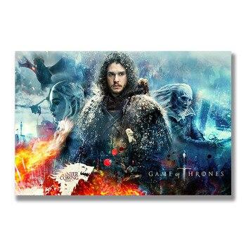 Плакат гобелен Игра престолов шелк модель 2