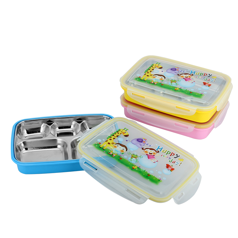 cute cartoon 304 stainless steel lunch boxs food bento box vacuum insulation bento box for kids. Black Bedroom Furniture Sets. Home Design Ideas