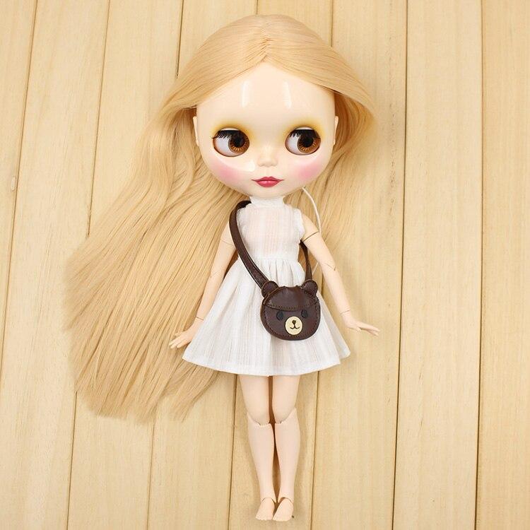 Odbarwione włosy beżowy staje się różowy wspólne ciało Nude Blyth Doll różowe włosy moda fabryka lalek lalki w Lalki od Zabawki i hobby na  Grupa 2