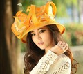 2017 Ladies Dress Sinamay Derby Church Wedding Cocktail Evening Party Vintage Sun Cap Wide Brim Fedora Visors Berets Flower New