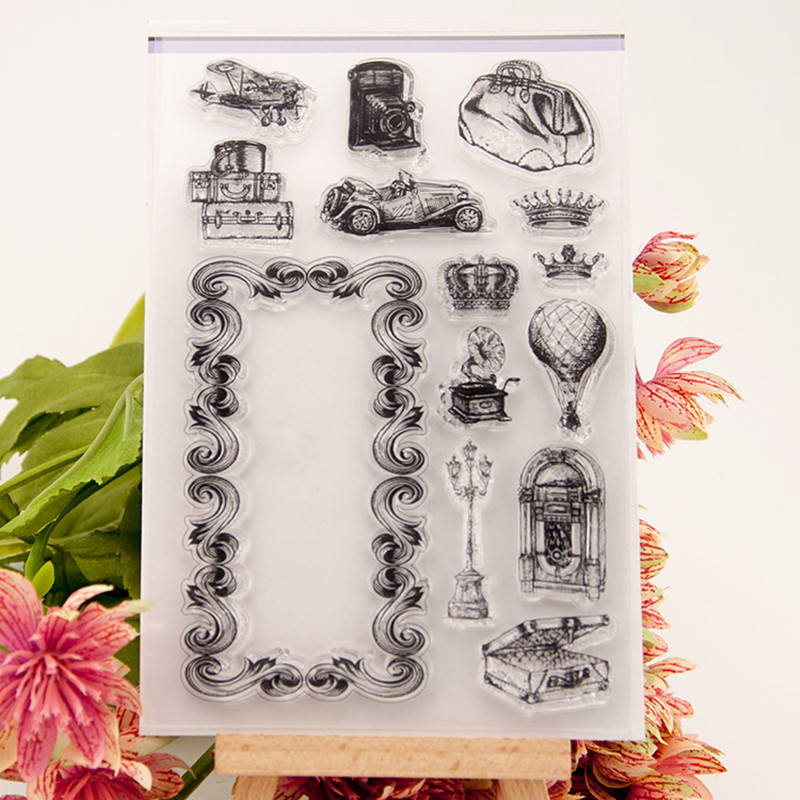 DIY scrapbooking photo album Transparent Clear Silicone stamp for wedding gift christmas paper card T-0049 flowers lace design transparent clear stamp diy silicone seals scrapbooking card photo album for wedding gift cl 192
