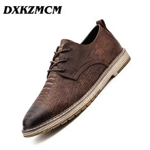 DXKZMCM Handmade Men Dress Loafers Microfiber Leather Formal Business Oxfords Shoes Leisure Men's Flats for Party