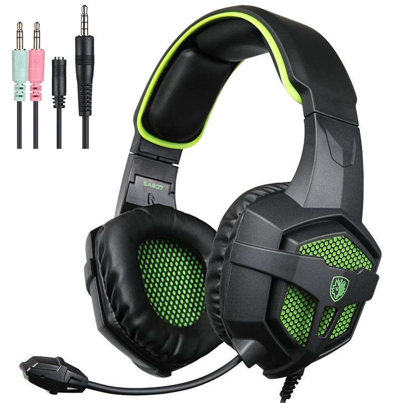 SADES SA807 Stereo Surround Gaming Headset Headphones for PC PS4 Professional Game Headset Noise Isolating+Mic for Computer EJ04