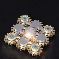 9 copper gears 10 stainless steel bearings, CNC wire cutting EDC decompression tools, adult fingertips rotating gyroscope