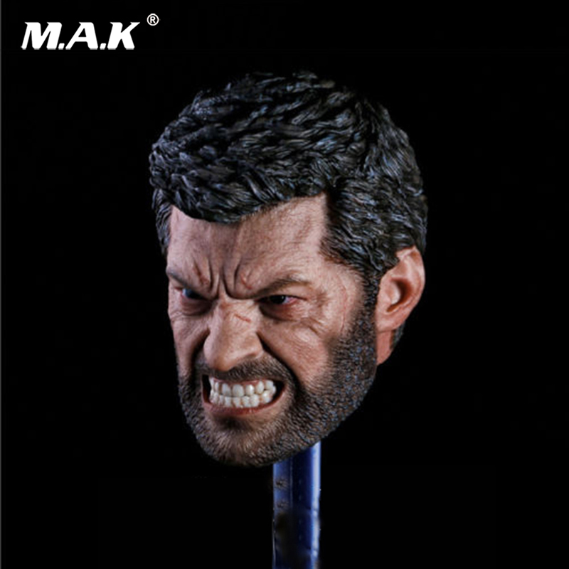 1/6 Scale Angry Logan Head Sculpt Wolverine Hugh Jackman 1/6 Head Toy F 12'' Figure mak custom 1 6 scale hugh jackman head sculpt wolverine male headplay model fit 12kumik body figures