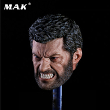 1/6 Scale Angry Logan Head Sculpt Wolverine Hugh Jackman 1/6 Head Toy F 12'' Figure marvel legends custom 6 action figure old logan hugh jackman x men wolverine 1 12 head