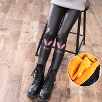 girls leggings winter kids girls leggings for children girl pant 2018 hot fashion warm thicken pu leather pants child clothes