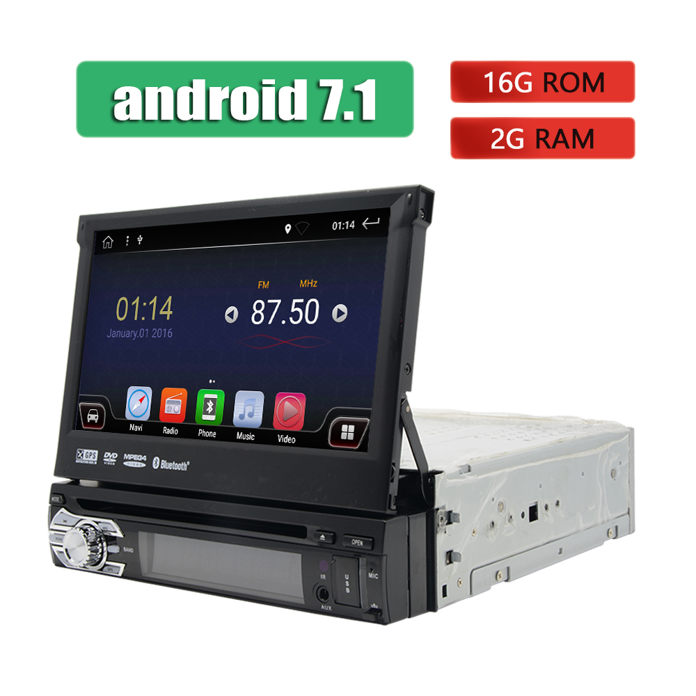 Android 1 Din Car DVD Player GPS Navigation WIFI 3G 4G Stereo Touch Screen Car Radio Bluetooth Universal 7 Multimedia Player