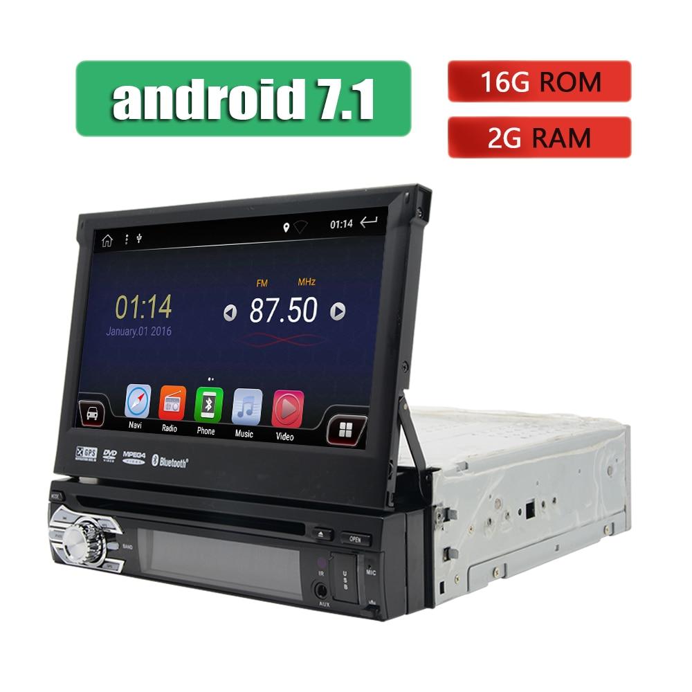Android 1 Din lecteur DVD de voiture Navigation GPS WIFI 3G 4G stéréo écran tactile autoradio Bluetooth universel 7