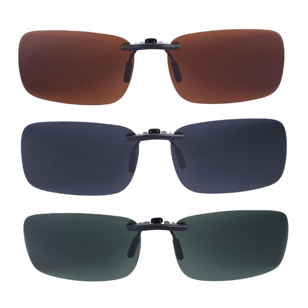 2x Car Driving Polarized UV 400 Lens Clip-on Glasses Myopia Sun Eyeglasses