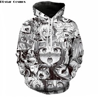 PLstar Cosmos Free Shipping Anime Ahegao Funny 3D Print Men Women Hoodies Street Wear Casual Hip