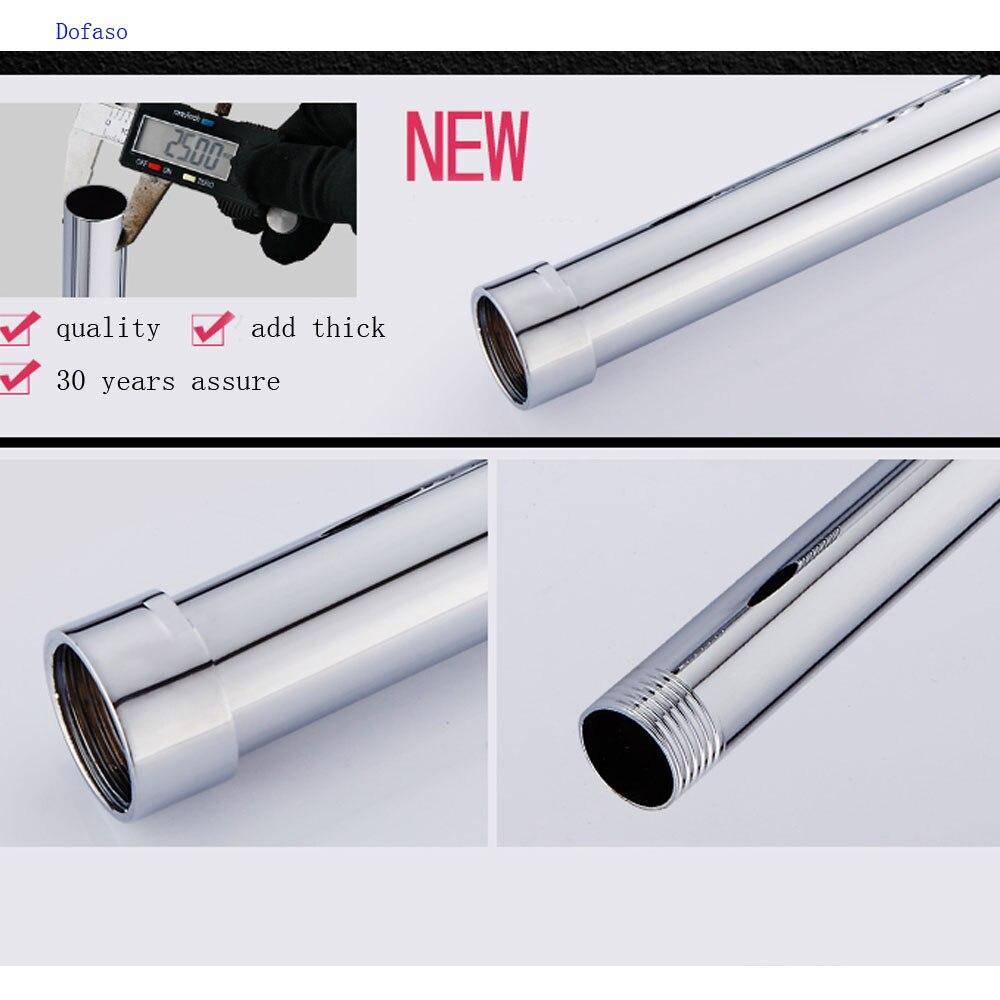 Dofaso 3/4 ''externe diamètre 25mm extension de douche bar Inoxydable tube 30 cm rallongent tringle de douche tuyau d'extension coulissante bar