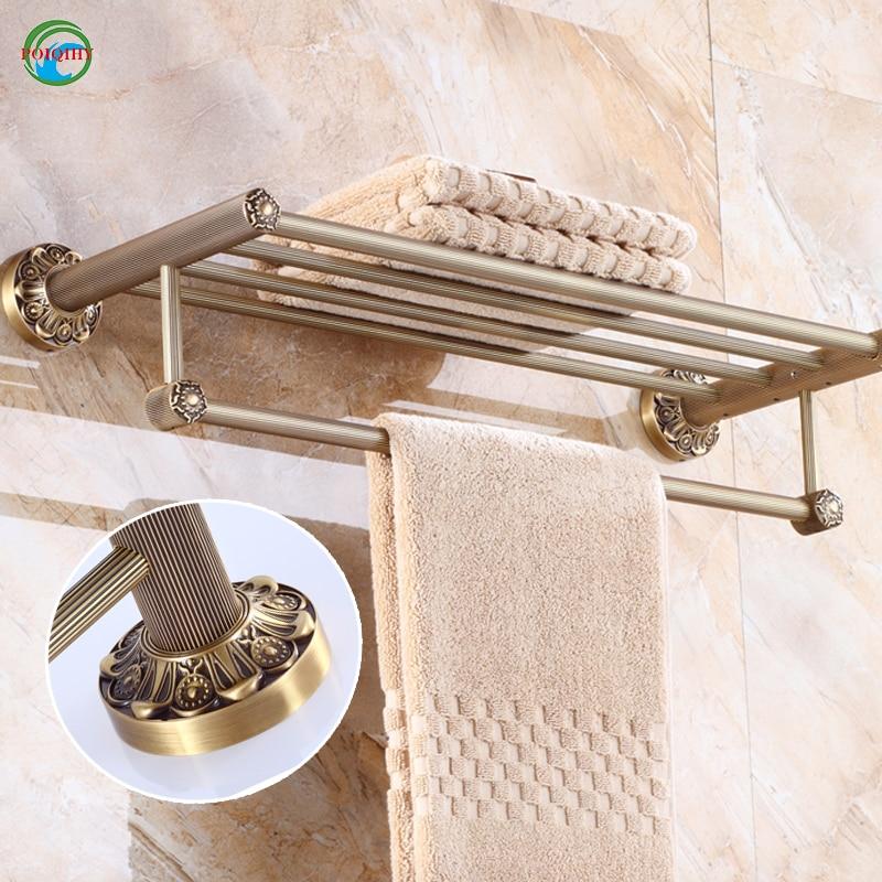 Vintage Towel Storage: Solid Brass Vintage Style Bathroom Towel Rack Antique