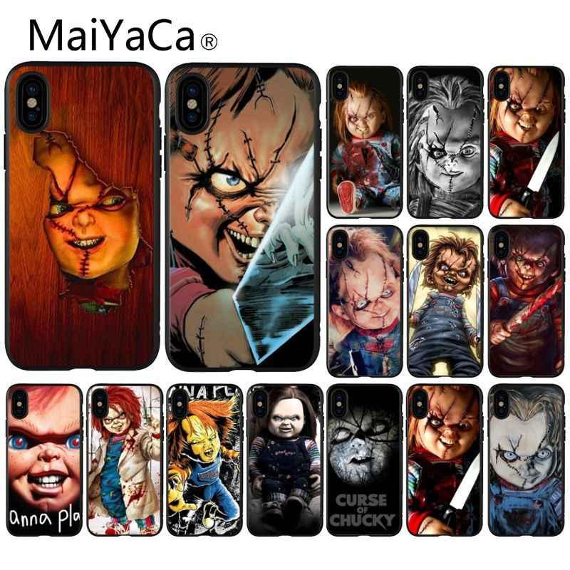 MaiYaCa CHUCKY KINH DỊ CHURSE CỦA CHUCKY CHILDS ĐÓNG PHIM Trường Hợp Điện Thoại cho iPhone 8 7 6 6 S Cộng Với 5 5 S SE XR X XS MAX Coque Vỏ