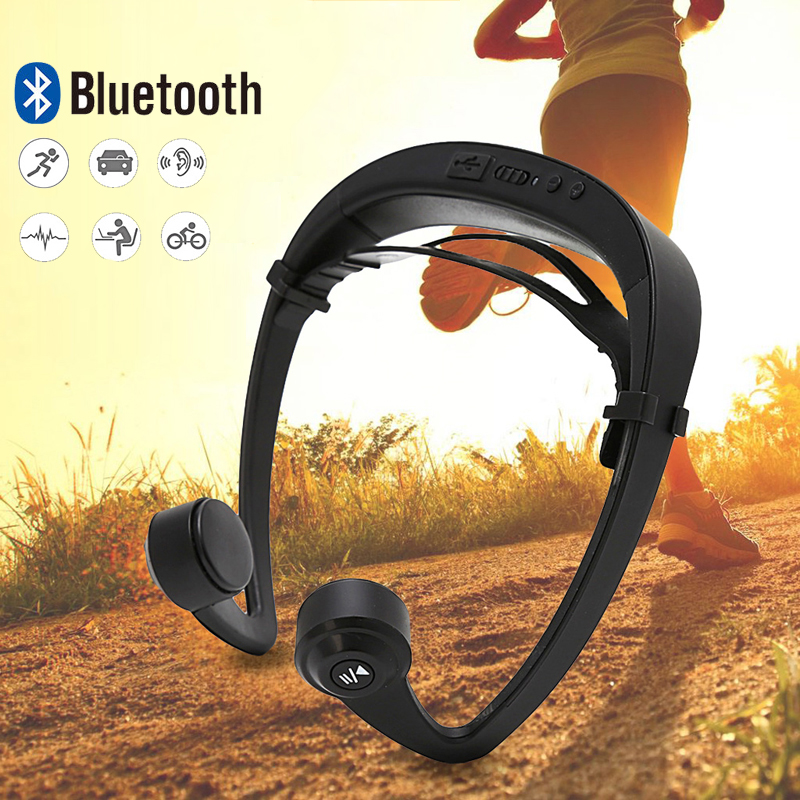 CAIWEI Open Ear Hook Bone Conduction Wireless Stereo Bluetooth 4.2 Sports Headphone Headset With Mic for Jogging Running bluetooth 4 1 bone conduction sports waterproof headset wireless ear hook headphone w mic white