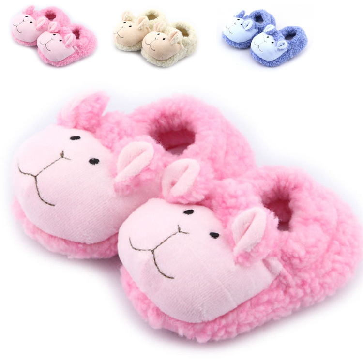 1 Pair Children Boys Girls Cartoon Plush Cute Animal Kids Shoes Winter Fashion Chaussure Enfant Slippers Dog