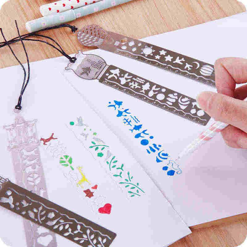 Милый каваи креативная лошадь клетка полые металлические закладки линейка для детей студенческий подарок, школьные принадлежности Бесплатная доставка