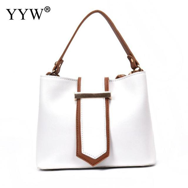 White Tote Bag for Women Brand Luxury Women s PU Leather Handbags Front  Closure Top-Handle Bags Famous Lady s Crossbody Bag ea8b54d47baf4