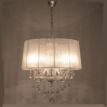 Простой белый/черный Рисунок абажур Люстра хрустальные люстры светодиодные лампы E12/E14 led освещение led блеск droplight/pendant2