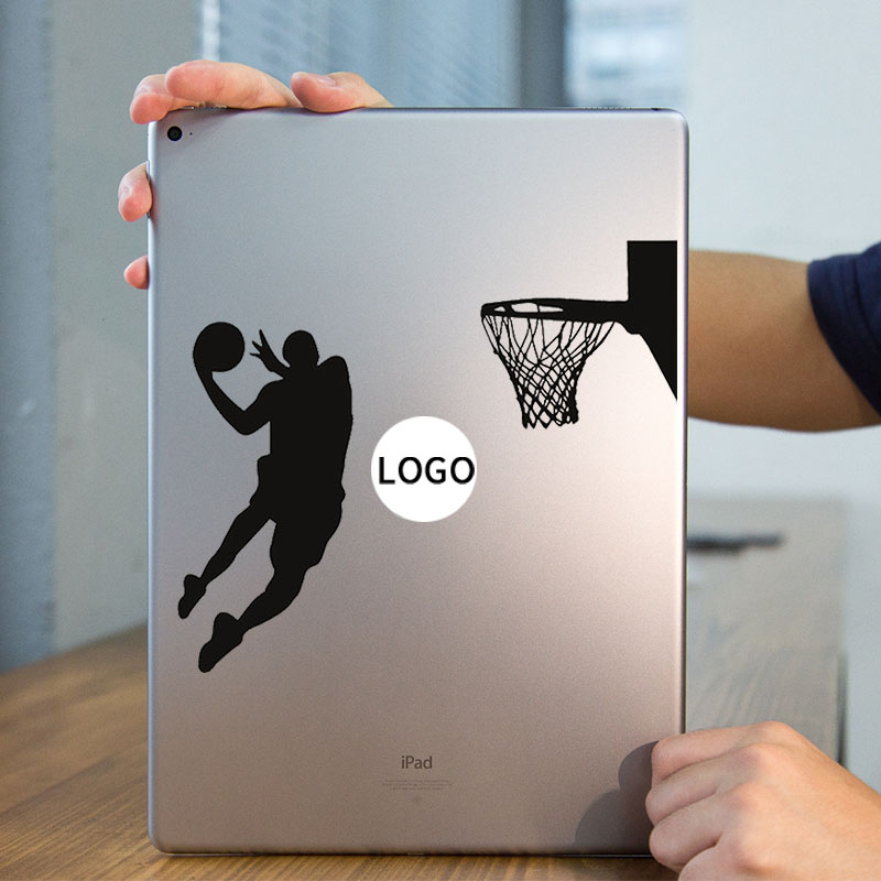 Basketball Player Art Laptop Sticker for Apple iPad Decal Air / 1 /2 / 3 / 4 / Mini Surface Book Tablet PC Skin Notebook Sticker