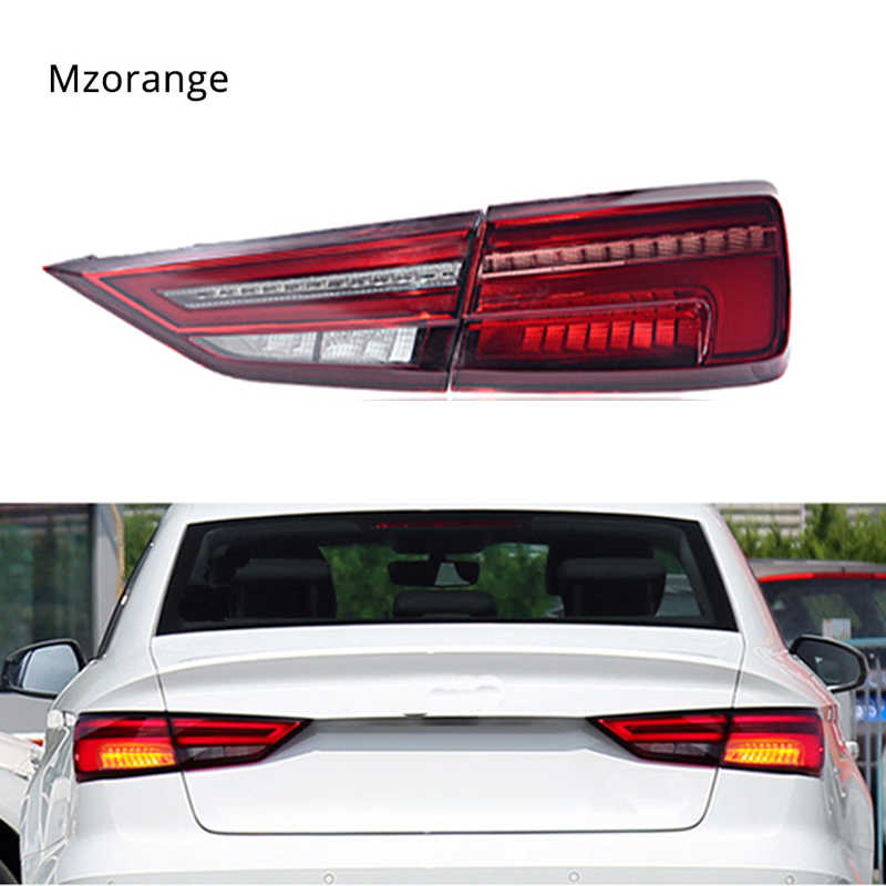 MIZIAUTO Tail Lights for Audi A3 2013-2019 A3 LED Tail Lamp LED DRL Dynamic Signal Brake Reverse CAR Accessories