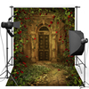 Flower Castle Door For Children Wedding Vinyl Or Oxford Photography Background Photography Studio Backdrop Photo Props