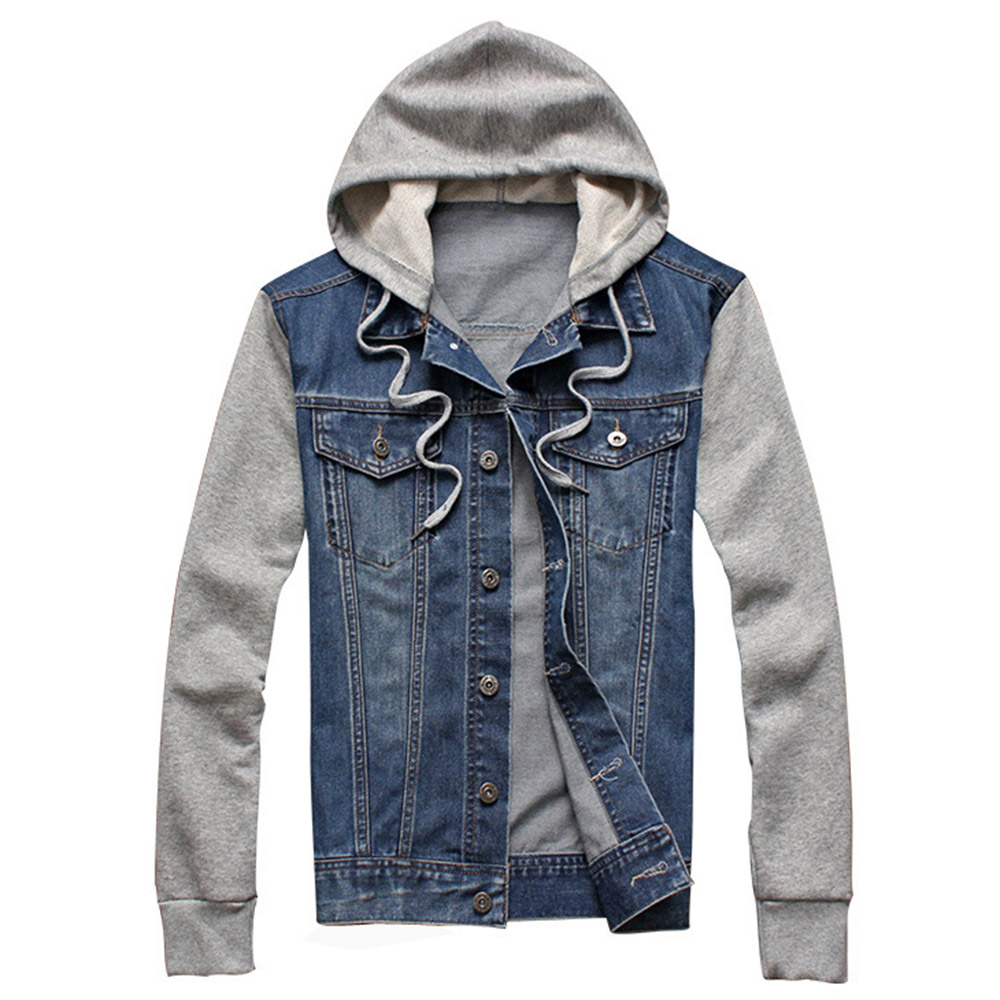 2015 New Arrive Autumn Winter Men Jacket Denim Hooded Jean Jacket ...