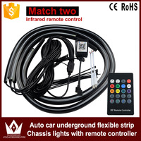 GuangDian New Car Accessories LED Strip 5050 RGB Auto Reflective Strip Flexible Lights Waterproof With Remote