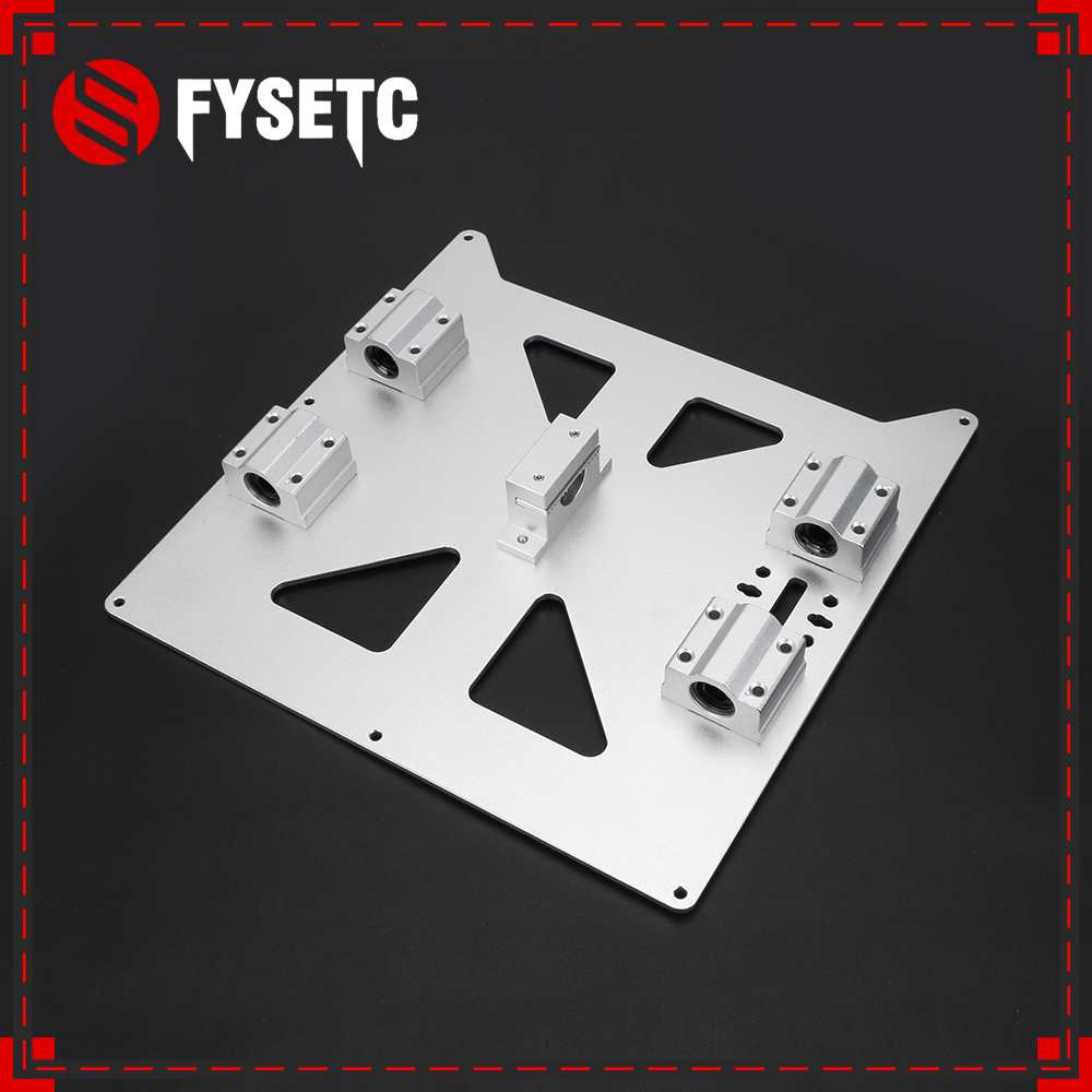 Aluminum Y Carriage Anodized Plate With SC8UU pgrade Prusa i3 V2 Hot Bed Support Plate For Prusa i3 RepRap DIY 3D Printer parts prusa i3 update version large size xl aluminum extended 300x200mm y carriage plate for reprap 3d printer
