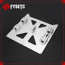 Алюминиевая Y карета анодированная пластина с SC8UU pgrade Prusa i3 V2 Горячая опорная решетка пластина для Prusa i3 RepRap DIY 3d части принтера