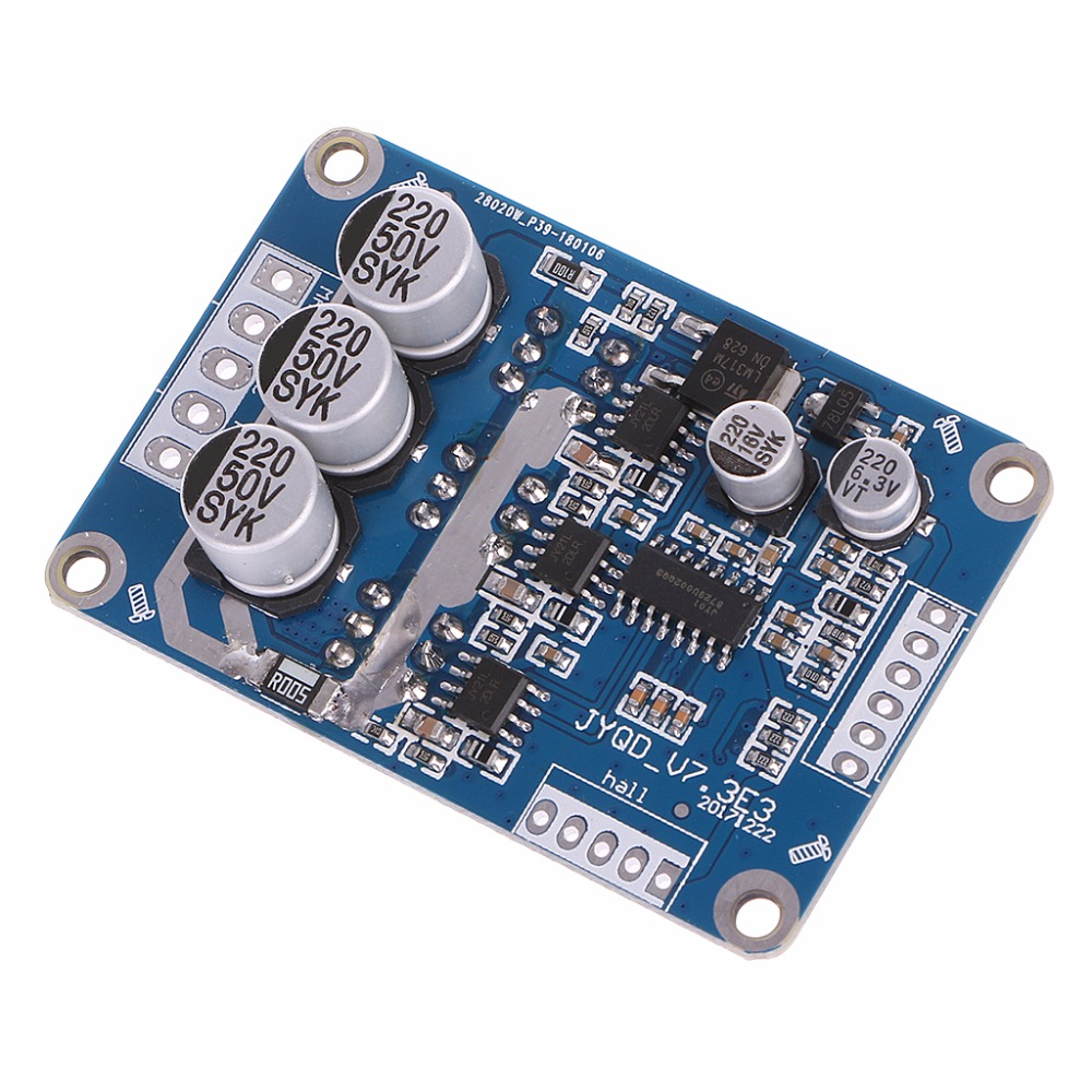 OOTDTY DC 12V-36V 15A 500W Brushless Motor Controller Hall BLDC Driver Board