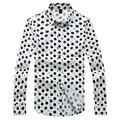 Досуг Мужская Рубашка Черный С Длинным Рукавом Китайский Стиль Весна Ситец Fit Повседневная Рубашка Номера для глажения Большого Размера гент Жизни