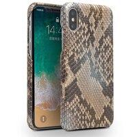 Qialino ультра тонкий чехол для iPhone X/10 роскошных кожи питона Пояса из натуральной кожи сзади сумка чехол для iPhone X телефон чехол для 5.8 дюймов