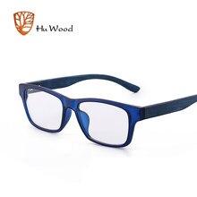 Hu Homens Marca Óculos de Armação De Madeira de Madeira de Alta Qualidade  Da Forma Clara Óculos de Miopia Óculos Ópticos Quadro . 024d129f4d