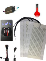 Passenger Driver Two Seat Car Seat Heater With Five Speed Dual Wheel Switch Universal Car Carbon