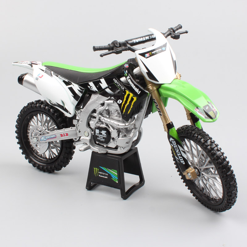 1:12 Scale Newray KAWASAKI KX450F monster Diecast motorcycle Enduro rally model off road racing Motocross bike model toy for kid