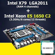 Huanan X79 материнской Процессор комбинации Intel Xeon E5 1650 C2 Процессор X79 LGA 2011 материнская плата atx 2 года гарантии