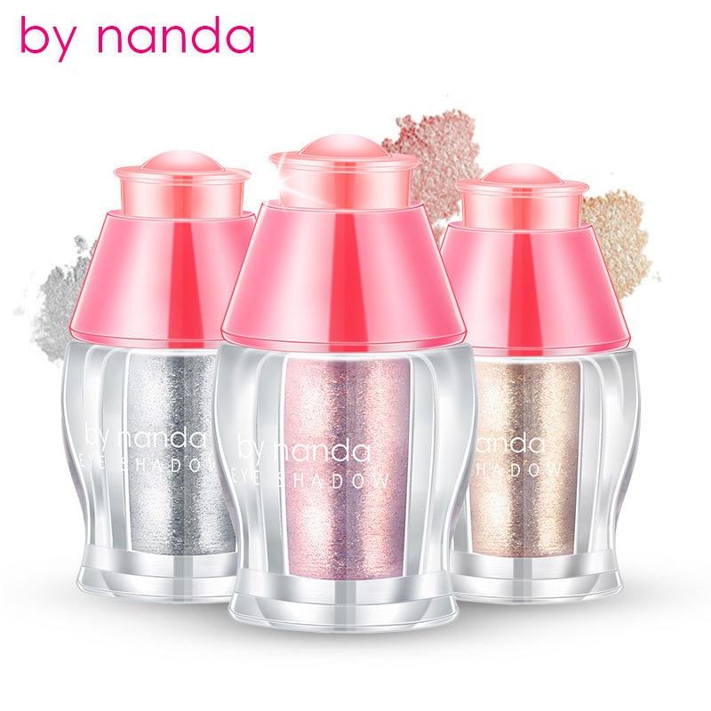 By Nanda Brand Matte Eyeshadow Pigment Cosmetic 13 Colors Waterproof Single Eye Shadow Glitter Powder Long-lasting Women Makeup Beauty & Health Beauty Essentials