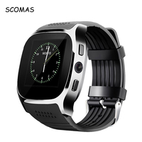 SCOMAS T8 Bluetooth Smart Watches With Camera Support SIM TF Card Pedometer LBS Men Women Smartwatch
