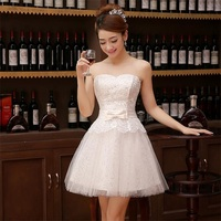 Latest Short Evening Dresses Elegant Sweetheart Sash Ball Prom Party Pageant Graduation Gown Fashionable Red White