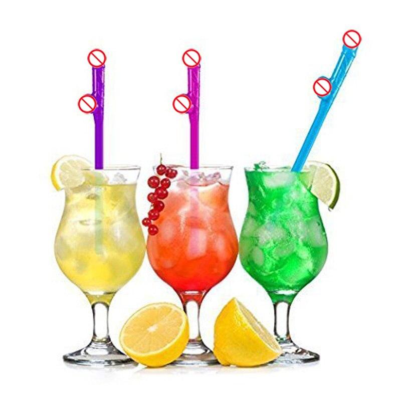 10st Dricka Straw Tube Bachelorette Hen Party Party Bridal Shower - Semester och fester