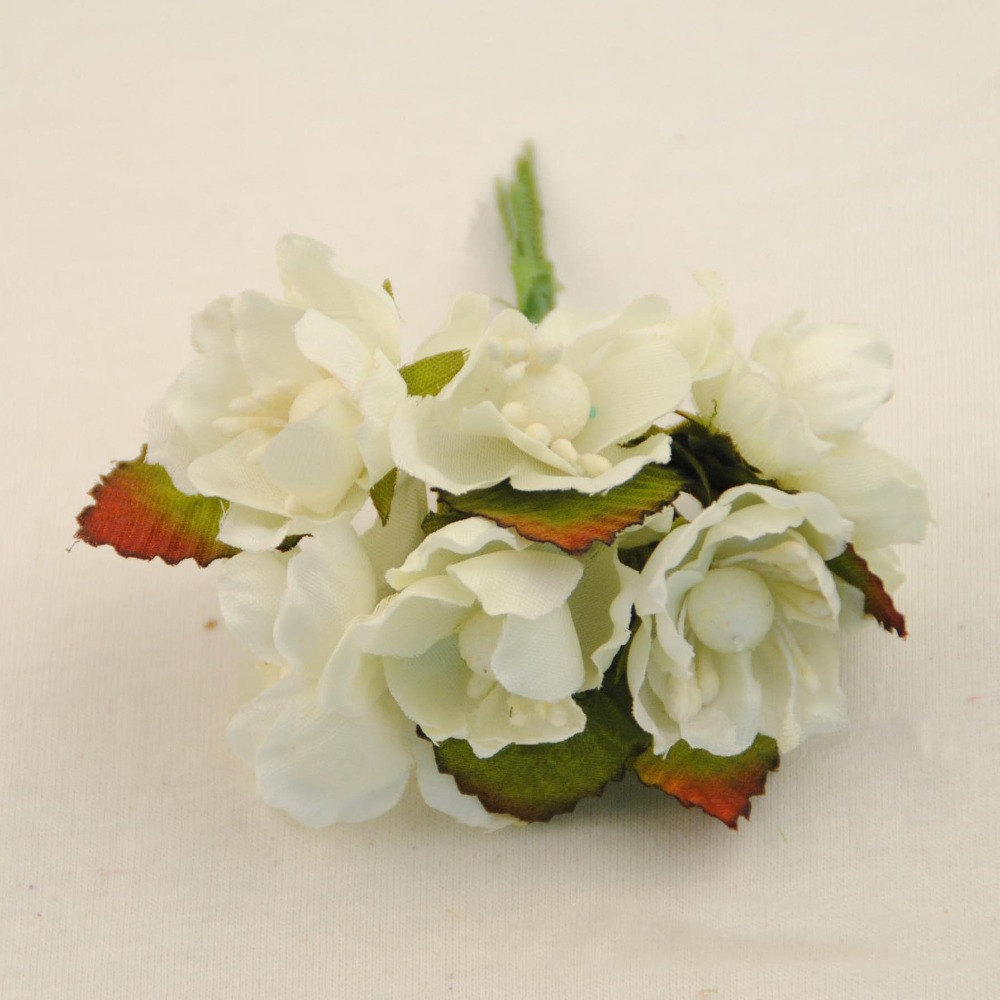 3cm small fabric roses artificial silk cherry blossom for Fake flowers for crafts