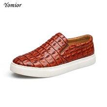 Yomior модные повседневные мужские туфли Zapatos Zapatillas дизайнер прогулочная обувь Мужская одежда Лоферы увеличивающие рост большой размер 38-47