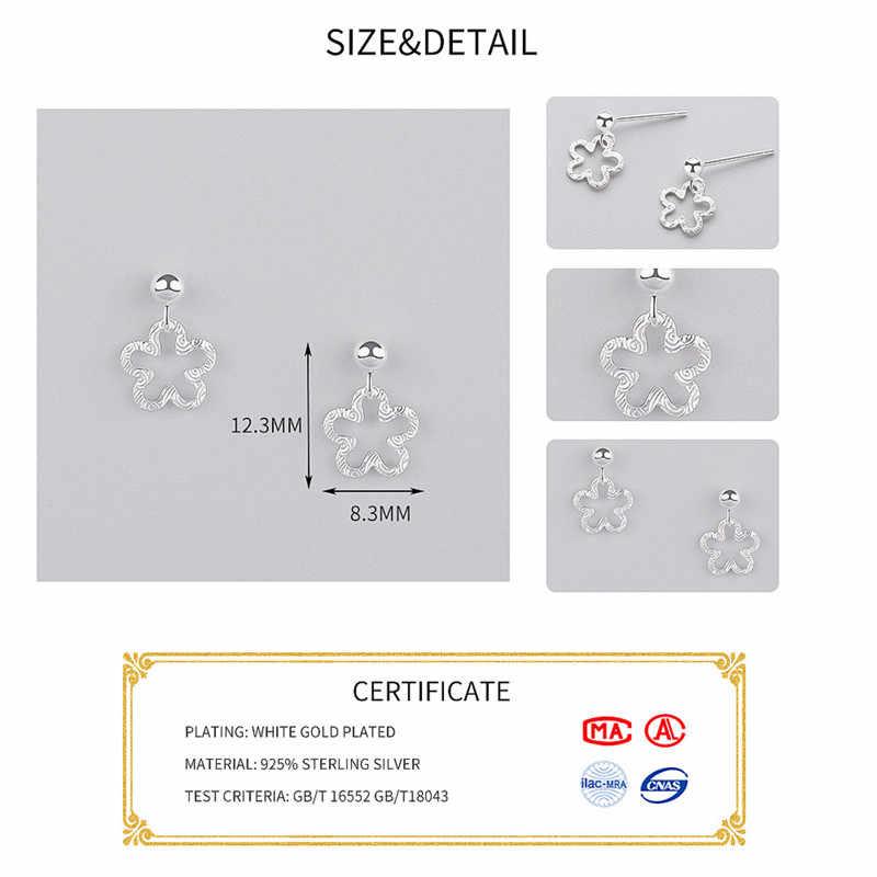 INZATT Minimalis Menyegarkan Berongga Flower Menjuntai Drop Earrings 2018 Untuk Wanita Anniversary Charm Perak 925 Fashion Jewelry Hadiah
