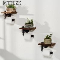 MTTUZK Creative toilet paper towel holder frame retro toilet roll holder paper holder Toilet accessories freeshipping