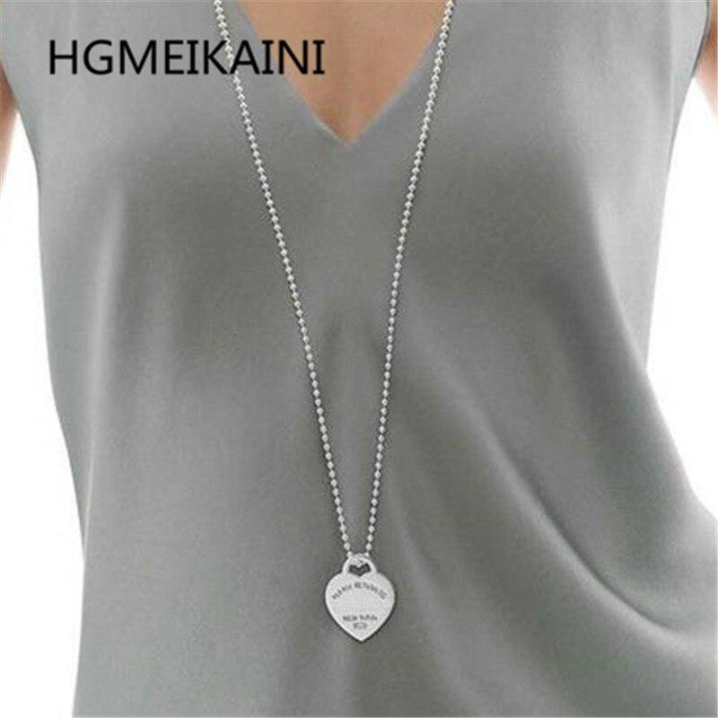 Tiff, 925 chaînes en argent en Europe et dans l'original vrai amour ronde perle breloque collier dames bijoux de mode cadeaux