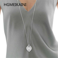 Tiff, 925 silver chains in Europe and in the original true love round bead necklace charm ladies fashion jewelry gifts